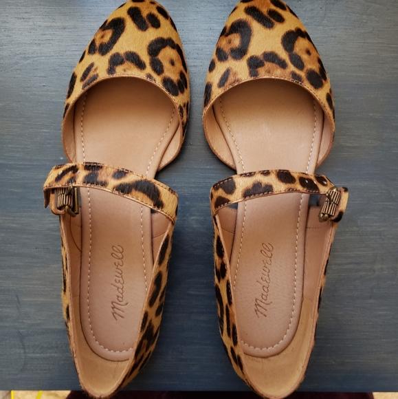 Alina Mary Jane Flat Leopard Print